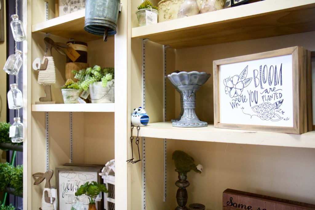 Home Decor on Shelves